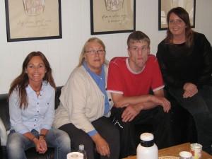 Fra venstre til høyre: Ann Carita Breimoen Nielsen, Øystein Husaas, Alfhild D. Husaas og Ingunn Githmark.
