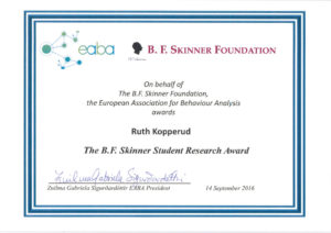 Ruth Kopperud - The B.F. Skinner Student Research Award